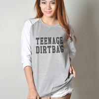 Teenage Dirtbag One Direction Baseball T Shirt Teen Fashion Women Tshirt