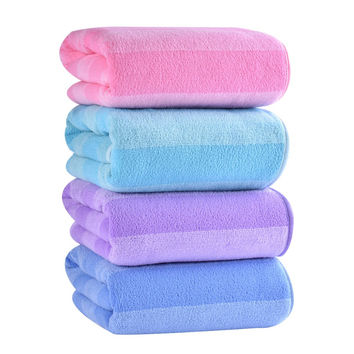 New 2016 Absorbent Bath Towel -- 70*140cm Microfiber Towel Quick-Drying Stripe Towels Spring Autumn Swimming Spa Towel for Adult