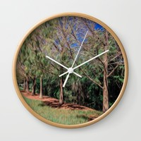 Going for a Walk Wall Clock by Gwendalyn Abrams