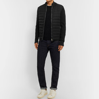 TOM FORD - Slim-Fit Ribbed Merino Wool and Quilted Shell Down Jacket