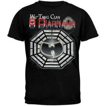 ESBGQ9 Wu-Tang Clan - 8 Diagrams Foil T-Shirt