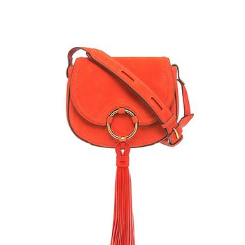 Tory Burch Tassel Mini Saddlebag