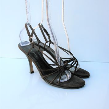 Banana Republic Made In Italy Strappy Leather Suede Sandals 7