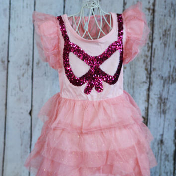"The ""Alaina"" Pink Sequin Bow Tutu Dress"