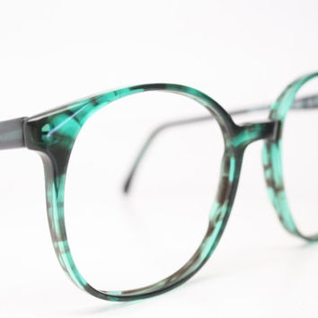Vintage Eyeglasses Pathway Optical Optilite Emerald 1980s Retro Eyeglass Frames