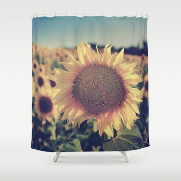 """Sunflowers"" Vintage dreams Shower Curtain by Guido Montañés"