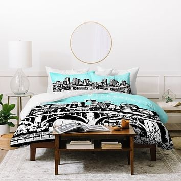 Bird Ave Minneapolis Sky Duvet Cover