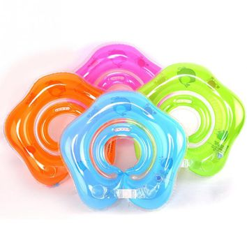 1Pcs Baby Swim Ring Neck Float Baby Accessories Swim Anti-back Safety Neck Ring Baby Kids Swimming Infant Circle for Bathing