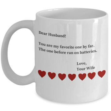 3 Year Anniversary Gifts For Husband - Sarcastic Valentines Day Gifts For Hubby - Funny Coffe Cup Gift San Valentin to Make Him Smile for Hours
