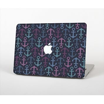 The Blue & Pink Vector Anchor Collage Skin Set for the Apple MacBook Air 13""