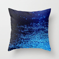 blue odisseia Throw Pillow by Marianna Tankelevich | Society6