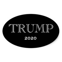 PRESIDENT DONALD TRUMP OVAL BUMPER STICKERS