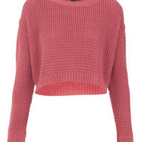 Petite Textured Crop Jumper