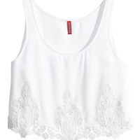 H&M - Short Lace Top -