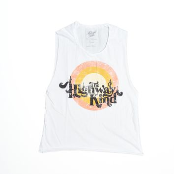 Highway Kind Muscle Tee - Bright White