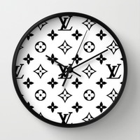 fancy love Wall Clock by Pink Berry Patterns