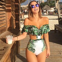 Backless Monokini Halter One Piece Swimsuit
