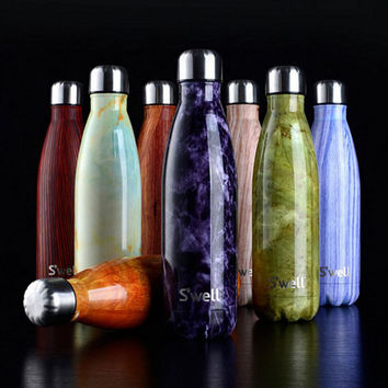 Swell  coke bottleSwell vacuum flask   thermoses bowling cup high-grade  thermoses and fashion movement  veined marble  kettle