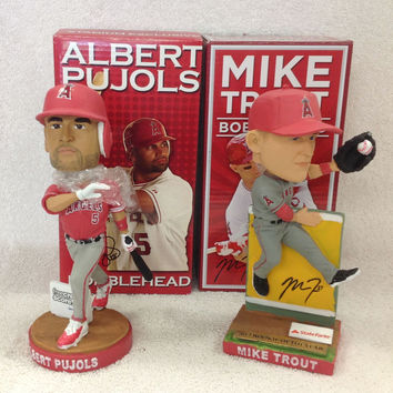 Mike Trout and Albert Pujols Bobblehead Set