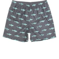 Maui & Sons Allover Shark Volley Boardshorts - Mens Board Shorts - Grey/Mint