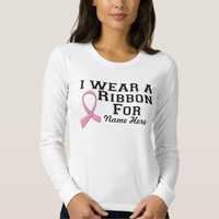 I Wear a Pink Ribbon Breast Cancer T-shirts