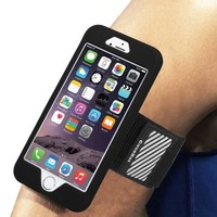 iPhone 6 / iPhone 6S Armband - Fintie Sports Running Case Premium Flexible Detachable Silicone Cover Combo, Black - Walmart.com