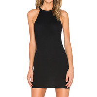 RISE I'm So Ribbed Dress in Black