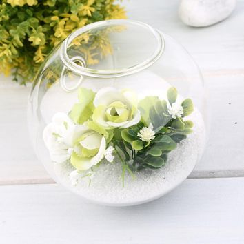 High Quality 1PC High Borosilicate Glass Hanging Glass Flower Planter Vase Terrarium Container Home Garden Ball Decor