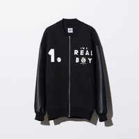NO.1 Printed Neoprene stadium Jumper(black)