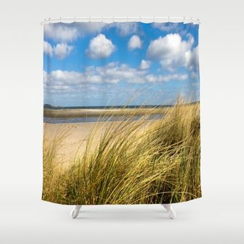 Beach whispers Shower Curtain by Tanja Riedel