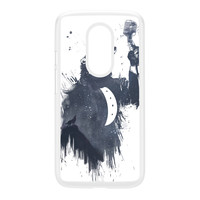 Wolf Song 3 White Hard Plastic Case for Moto X2 by Balazs Solti