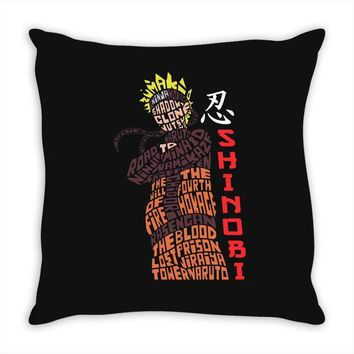 naruto shinobi anime Throw Pillow