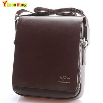 2016 men messenger bags crossbody bag for men Leather bag Kangaroo famous brand high quality shoulder bag men business briefcase