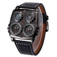 Cool Mens Leather Watches Boys Outdoor Sports Mountaineering Watch Best Christmas Gift