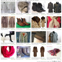 Bundle Up for the Winter - TeamLove Vintage Fashion Gift Guide by Gayla and Al Esch on Etsy