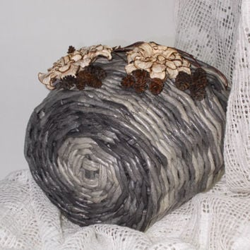 "Hand made wicker basket from paper ""Autumn Rhapsody"""