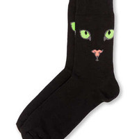 Black Cat Face Socks
