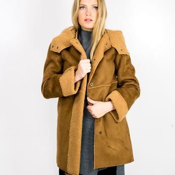 Suede Shearling Coat