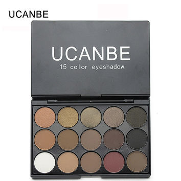 UCANBE Brand 3 Style 15 Earth Color Matte Eyeshadow Palette Cosmetic Makeup Pigment Shimmer Eye Shadow Naked Smoky Palette
