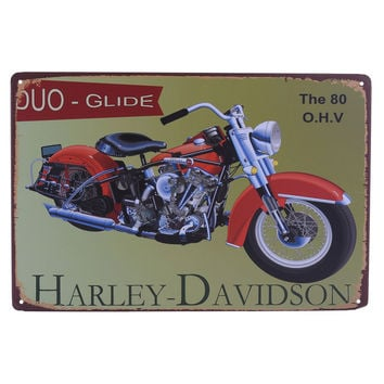 Vintage Metal Tin Sign Motorcycle Bar Pub Club Wall Tavern Garage Home Decor