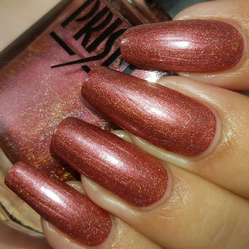 Duchess- Holographic Red Fall 5Free Handmade Indie Nail Polish