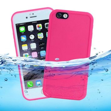 Waterproof Snowproof Swimming Phone Case For capinhas iPhone 5s SE 8 7 6 6S Plus 360 Full Sealed Front Back Two Pieces TPU Cover