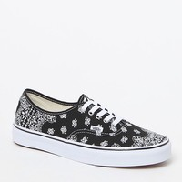 Vans Authentic Bandana Shoes - Mens Shoes - Black