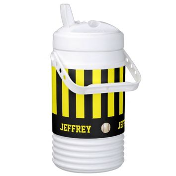 Personalized Igloo Beverage Cooler Baseball Yellow