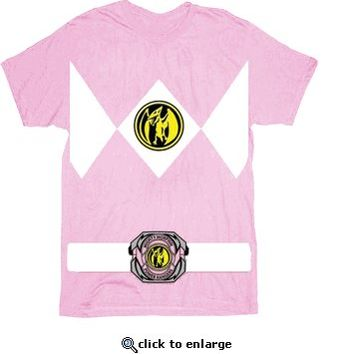 The Power Rangers Pink Rangers Costume T-shirt  - Power Rangers - Free Shipping on orders over $60 | TV Store Online