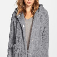 Women's Kenneth Cole New York 'Teddy Bear' Faux Fur Hooded Coat,