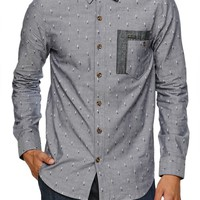 Volcom Chambro Long Sleeve Woven Shirt - Mens Shirts - Blue