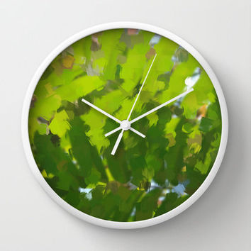 Art Print Wall Clock with Original Abstract Jungle Photography