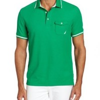 Nautica Men's Short Sleeve Chest Pocket Polo, Parrot Green, XX-Large