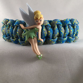 Curtsy Tinkerbell - Children Paracord Heaven Survival Bracelet with Adjustable Knot Closure